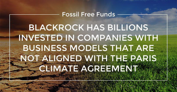 BlackRock must invest for the Paris climate agreement